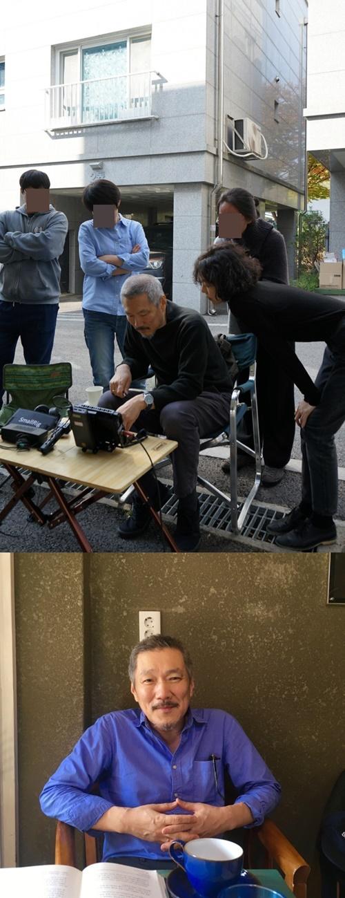베를린국제영화제 측이 홍상수 감독과 배우 김민희가 일곱 번째 호흡을 맞춘 영화 '도망친 여자' 촬영장 사진을 공개했다. 사진=베를린국제영화제