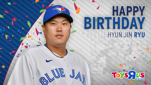 토론토 블루제이스는 공식 트위터를 통해 류현진의 생일을 축하했다. 사진= 블루제이스 공식 트위터