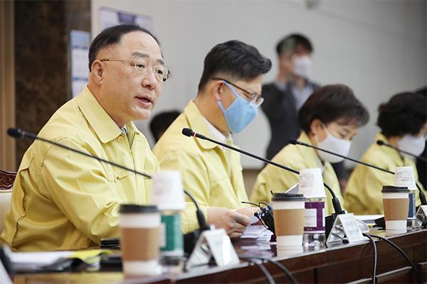Finance Minister Hong Nam-ki. [Photo by Yonhap]