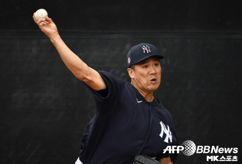 Tanaka was injured during training.  Photo=ⓒAFPBBNews = News1