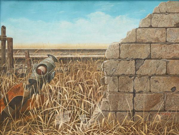 현실+장 78-1, 1978. Oil on canvas, 122x156cm