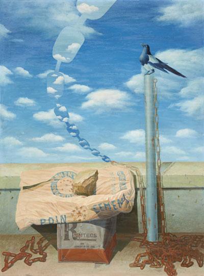 현실+장 75-1, 1975. Oil on canvas, 155x115cm