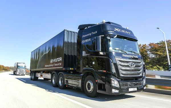 Hyundai Motor's Xcient trucks. [Photo by Hyundai Motor Co.]