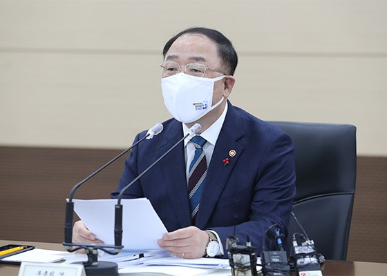 Finance Minister Hong Nam-ki. [Photo by Yonhap]