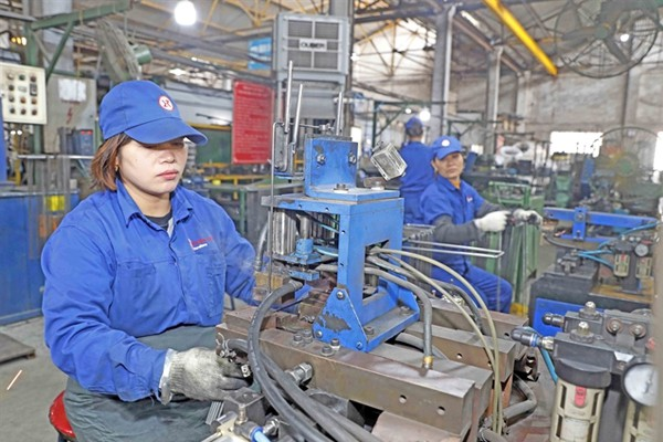 Workers produce interior decorations at a company in the northern province of Vĩnh Phúc. The labour sector has made remarkable achievement in the past five years. — VNA/VNS Photo Trần Việt