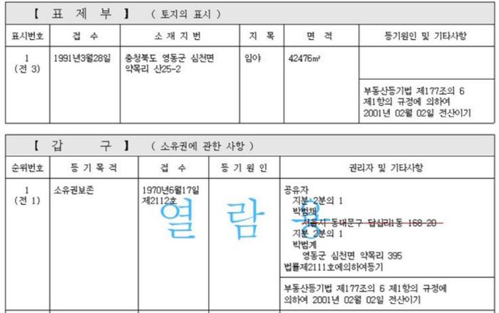 """박범계, 토지 6 천평 재산 누락 신고 … """"고의가 아닌 지명 실수"""""""