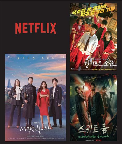 넷플릭스가 집계하는 글로벌 인기 콘텐츠 톱(TOP)10에는 tvN , OCN , 넷플릭스  등 5개의 스튜디오드래곤 작품이 올라 있다.