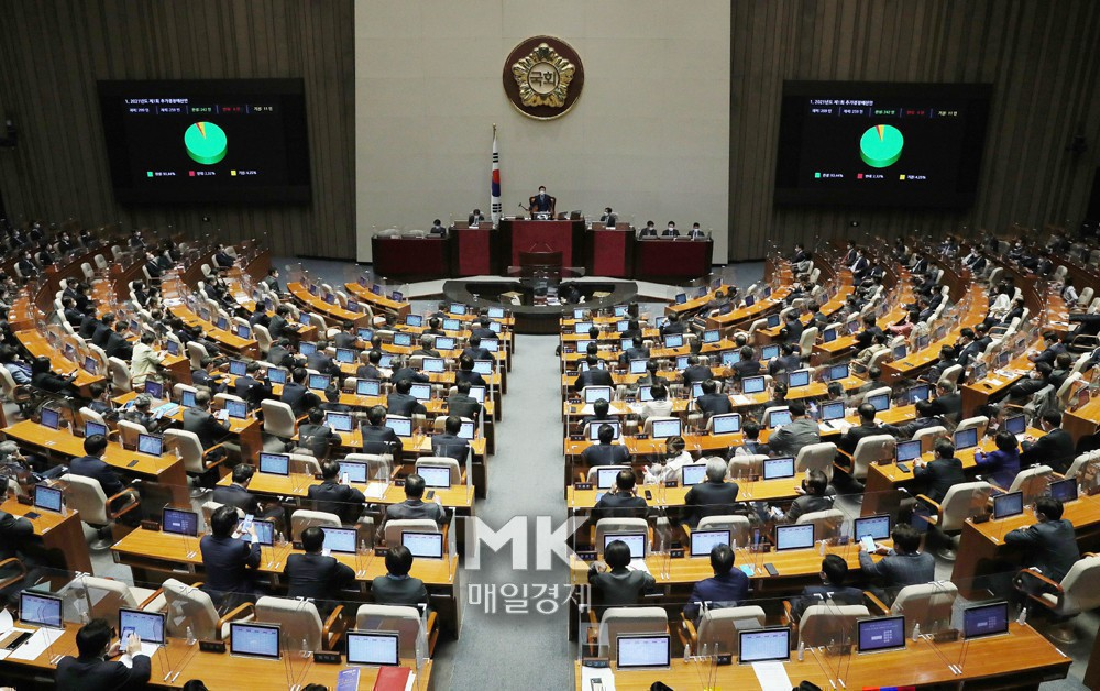 [속보] '제 4 차 재난 보조금'부칙 총회 통과 … 15 조원