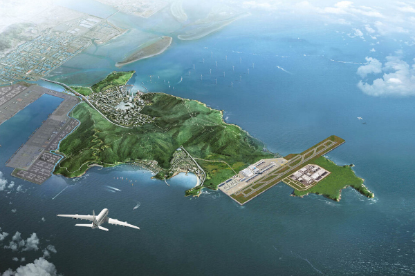 [Rendering of Gadeok airport provided by the Ministry of Land, Infrastructure and Transport]