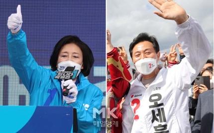 박영선 오세훈 운명의 날 … 21 일 재선 전국 투표 시작