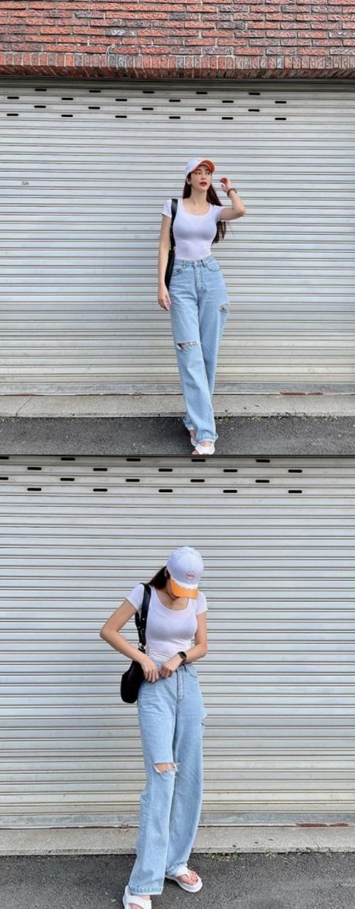 치어리더 김연정, 하얀색 티셔츠 입었을 뿐인데… [똑똑SNS]