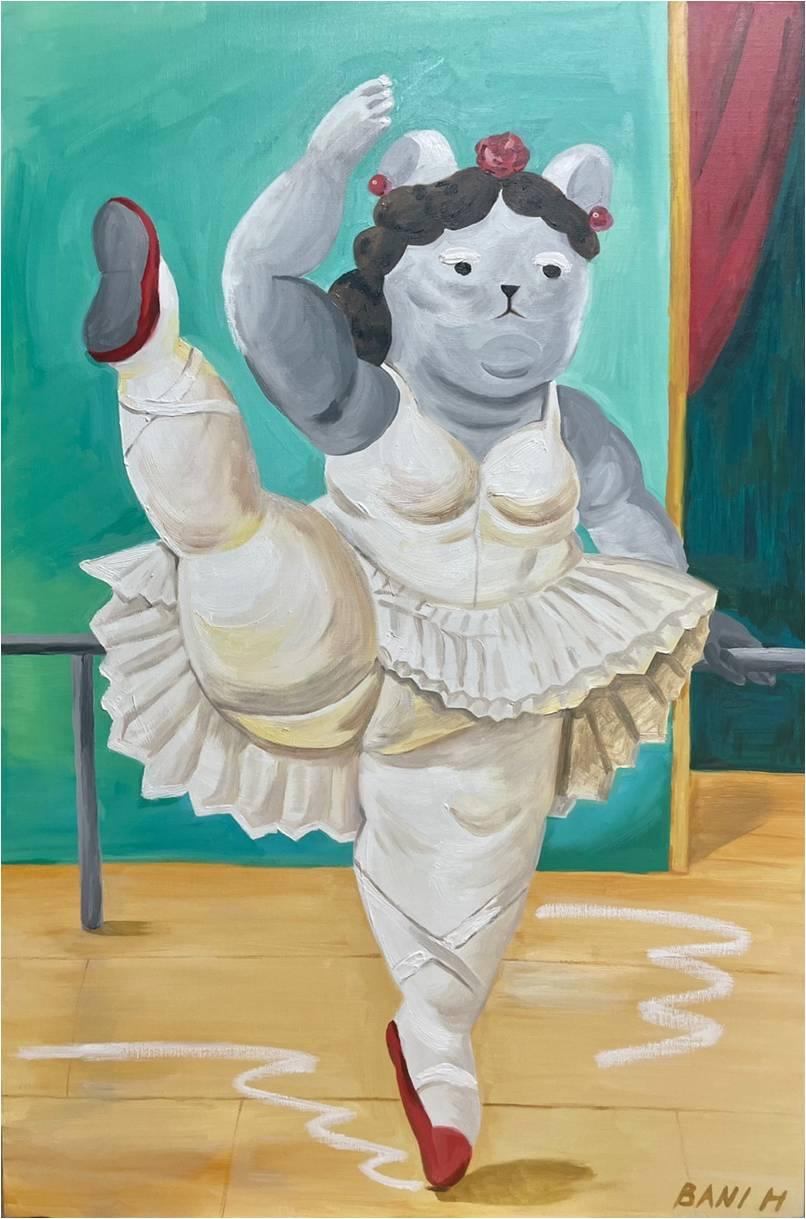 황정빈(Jungbin Hwang), Dancing, Oil on canvas, 90.9×60.6cm, 2021. 출처 ©Bani Hwang
