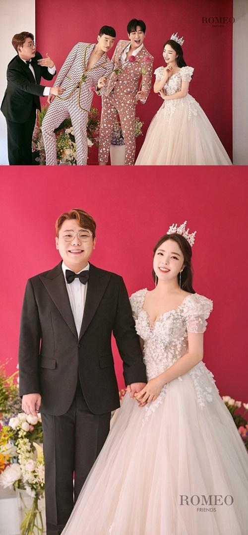 개그맨 송필근, 11월 20일 결혼…김기리·유인석 함께한 웨딩화보 공개