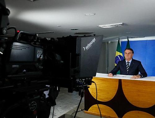 브라질 대통령, 코로나19 관련 TV·라디오 연설