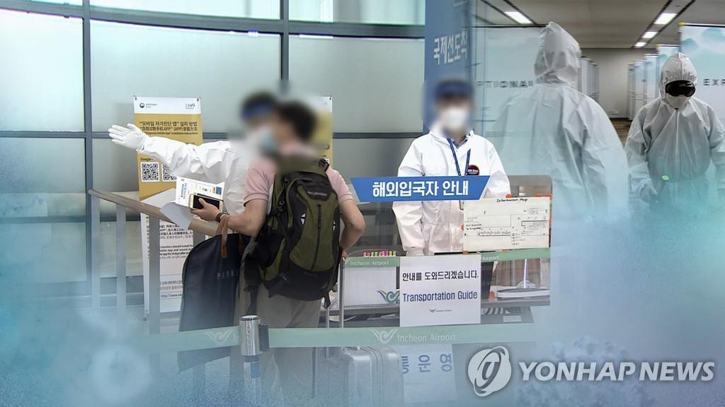 해외유입 코로나 감염 속출…인천공항 방역 분주 (CG)