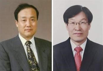 윤계섭 서울대 명예교수(왼쪽)와 권오준 전 포스코 회장