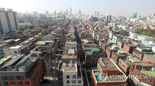 서울 송파구 빌라와 다세대 주택 밀집 지역