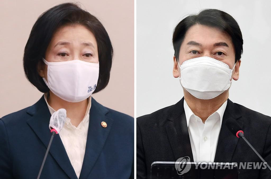 """""""박영선, 안철수, 41.9 % 대 초박형 41.4 %"""""""