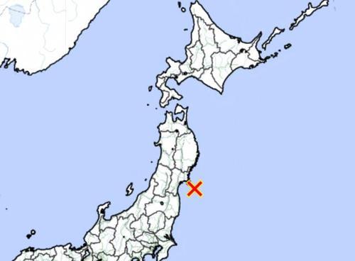 일본 미야기현 앞바다에 규모 6.6 �K진
