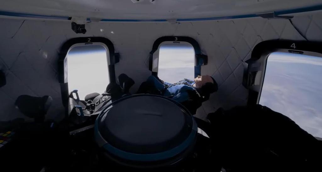 블루오리진의 우주여행 캡슐 내부. [출처=블루오리진 홈페이지. 재배부 및 DB 금지]