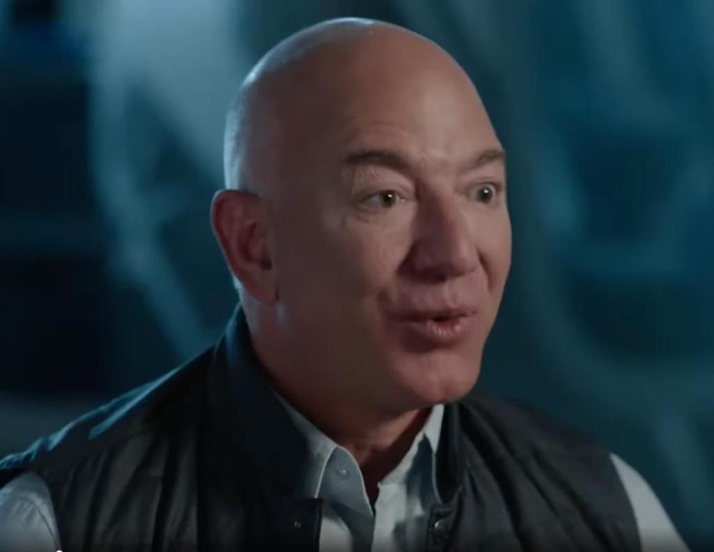 제프 베이조스 블루오리진 CEO가 경매 전 공개된 동영상에서 발언하고 있다. [출처=블루오리진 홈페이지. 재배부 및 DB 금지]