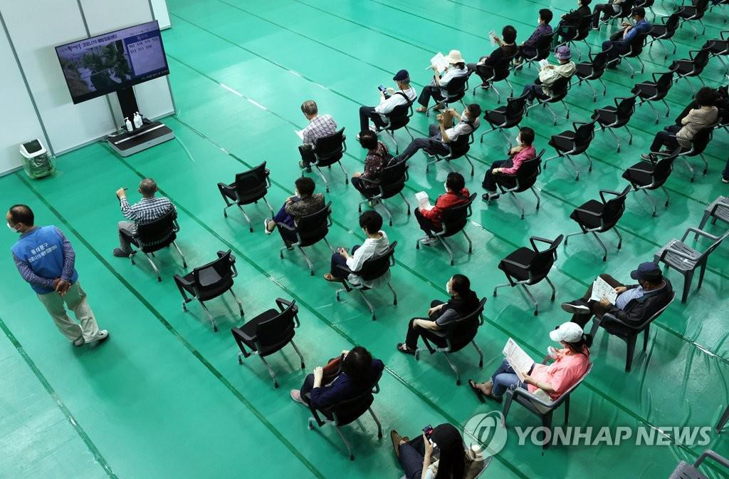 서울 동대문구체육관에 마련된 예방접종센터