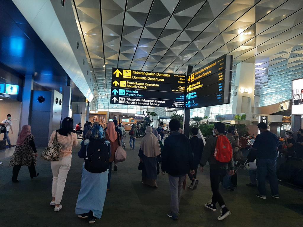 Departure Hall at Soekarno-Hatta Airport, Indonesia