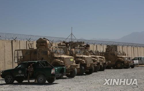 미군이 아프간 바그람 기지 철수 후 남은 차량