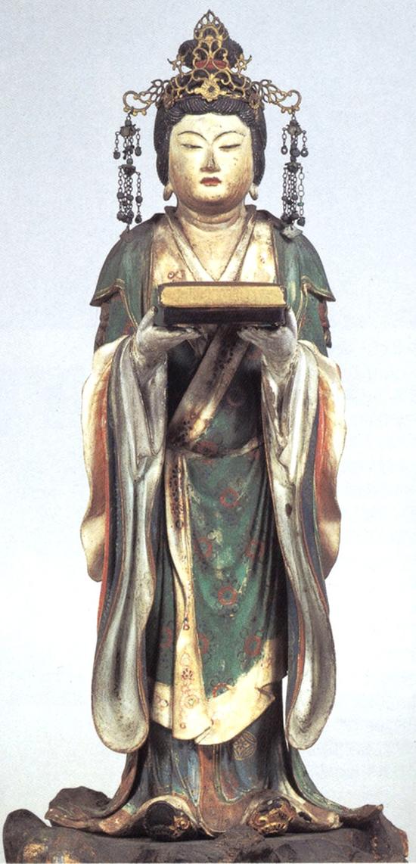 의상대사를 사모했던 선묘녀의 상. 가마쿠라시대(1185~1333). 일본 고잔지 소장
