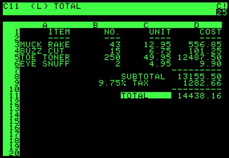 VisiCalc 소프트웨어 (1979년)