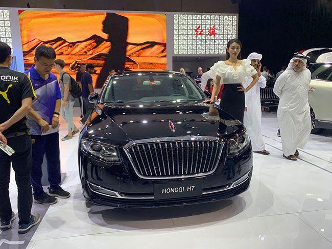 중국의 제일가는 명품차 브랜드 '훙치'도 이번 모터쇼에 선보였다