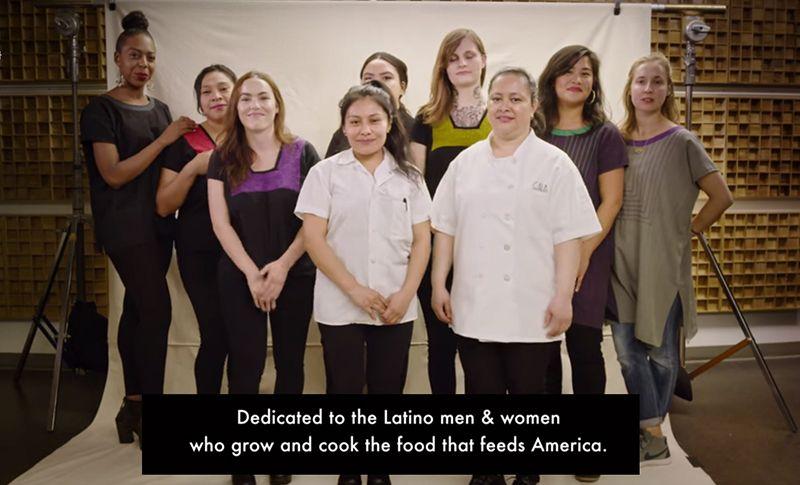 `미국인들의 식사를 차려주는 모든 라틴계 분들에게 헌사합니다….` 한국에 사는 조선족처럼 히스패닉도 대부분은 미국에서 건설업계나 가정부, 식당일을 한다. /출처=넷플릭스 `두 식당 이야기`(2019년)